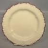 Large Wedgwood creamware plate with puce edge c.1790-1800.