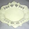 An English creamware molded & reticulated tray c1800 for a Summit, NJ living room.