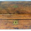 English burl walnut writing slope circa 1860 for a NYC library.